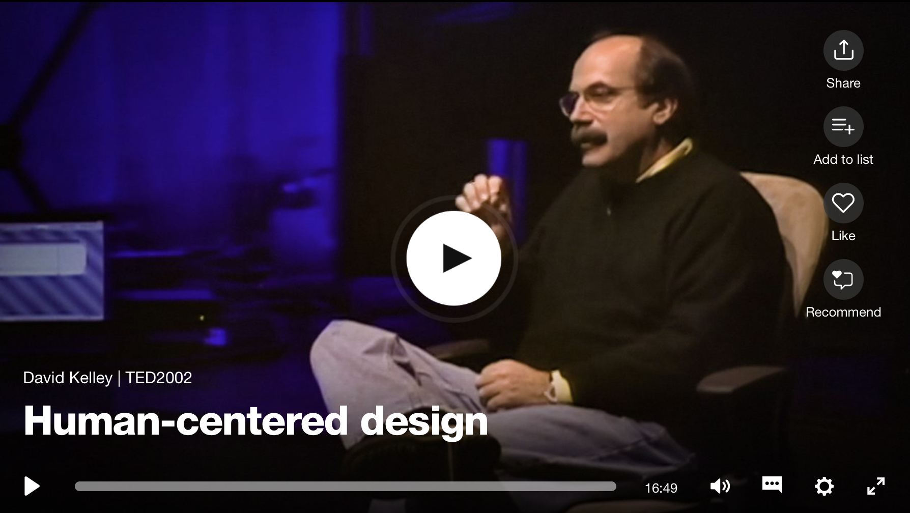 Thumbnail of video titled Human Centered Design