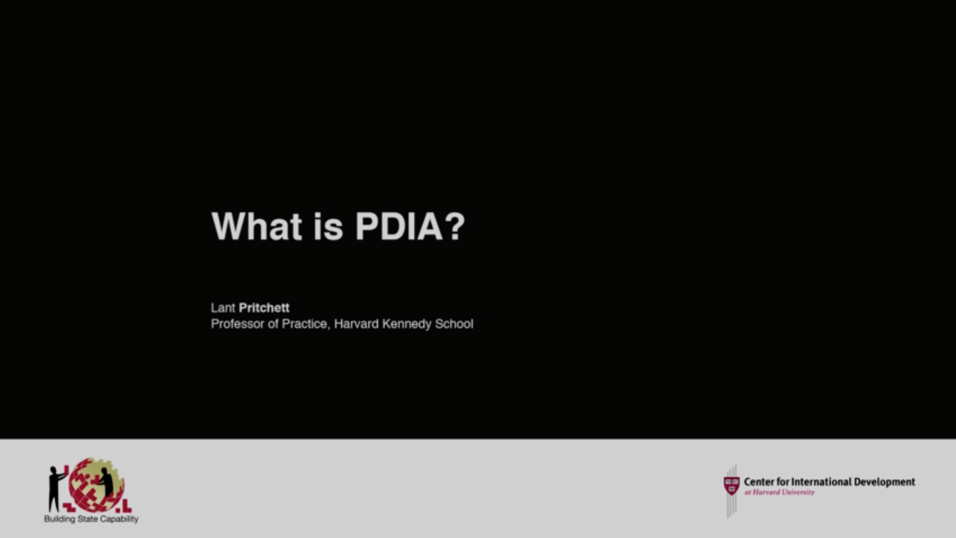 thumbnail of video titled Principles of PDIA